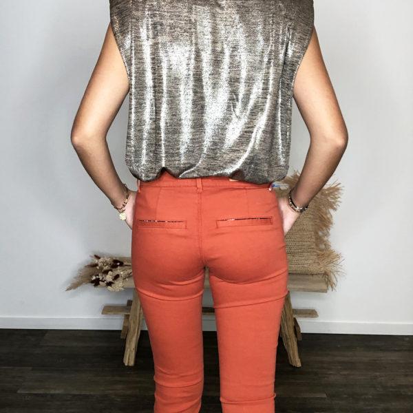 Pantalon chino citrouille - Happy