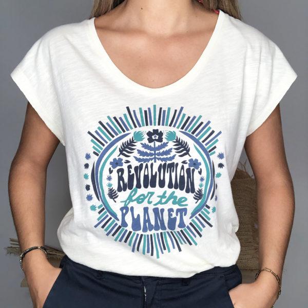 Tee-shirt Albertine ivoire - One Tee