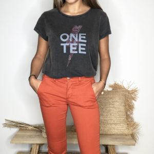 Tee-shirt Ava carbone - One Tee