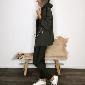 Veste à capuche - Kaki