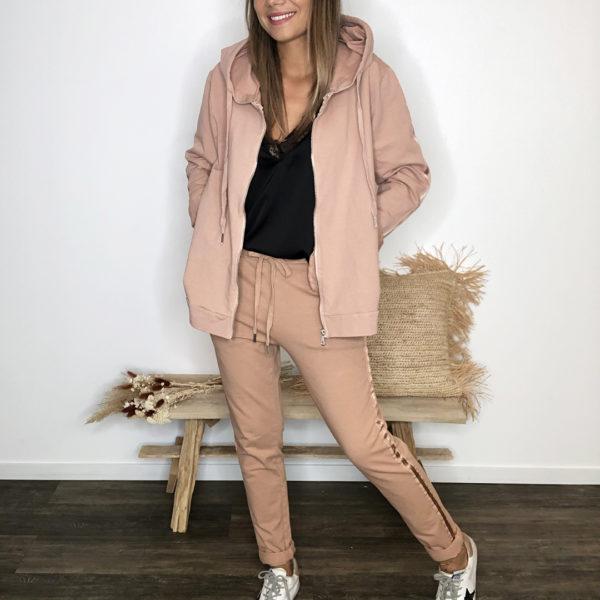 Veste à capuche - Rose