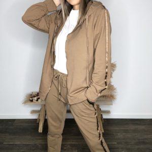 Veste à capuche - Camel