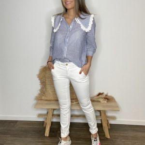 Pantalon chino Blanc - Happy
