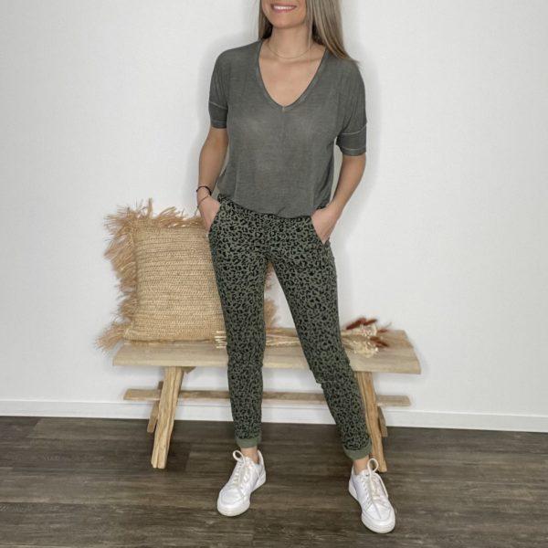 Pantalon Bold kaki - Happy