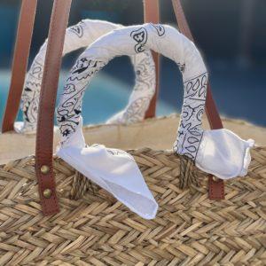 Panier foulard bandana - Blanc