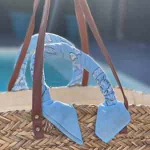 Panier foulard bandana - Bleu