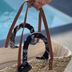 Panier foulard bandana - Noir