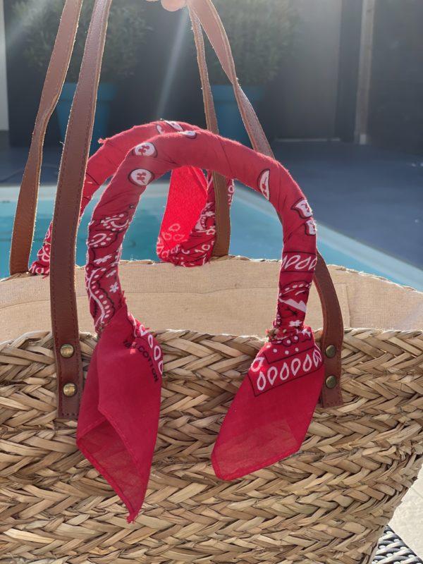 Panier foulard bandana - Rouge