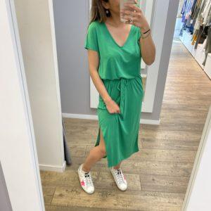 Robe tee-shirt - Verte