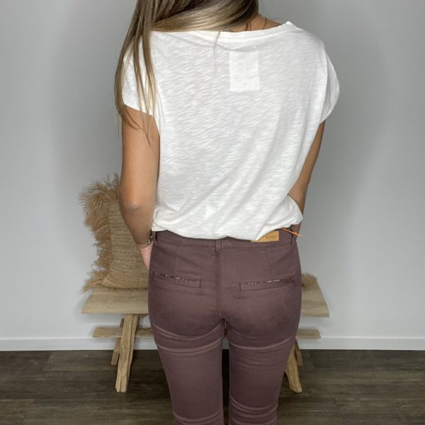 Pantalon chino tiramisu - Happy