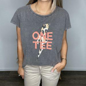 Tee-shirt Ava léopard carbone - One Tee