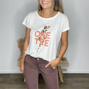 Tee-shirt Ava léopard ivoire - One Tee